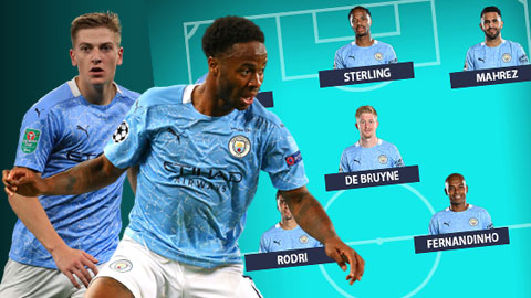 Man City dùng đội hình nào đấu Leicester khi vắng cả Aguero lẫn Jesus?