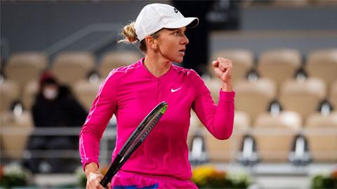 Simona Halep thắng trận thứ 15 liên tiếp, mừng sinh nhật đầu tiên ở Roland Garros