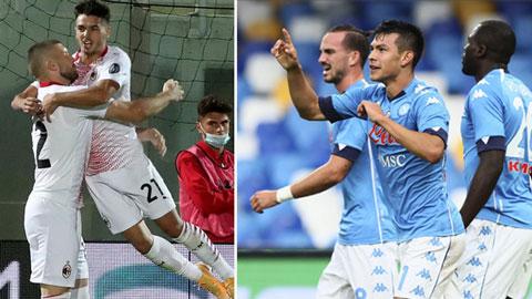 Milan và Napoli chia nhau 2 vị trí dẫn đầu sau những trận thắng dễ