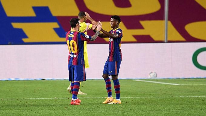 Fati có thể thừa kế vai trò của Messi ở Barca