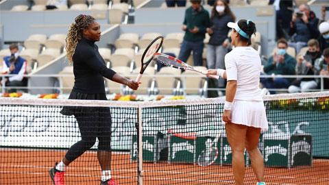 Serena Williams thắng trận thứ 66 ở Roland Garros