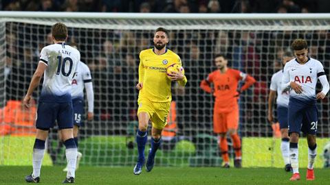 Lực lượng sứt mẻ vì chấn thương và trụ cột sa sút thể lực sẽ biến Tottenham trở thành mồi ngon cho Giroud (giữa) và đồng đội