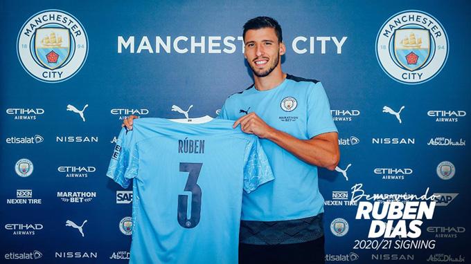 Dias sẽ khoác áo số 3 tại Man City mùa tới