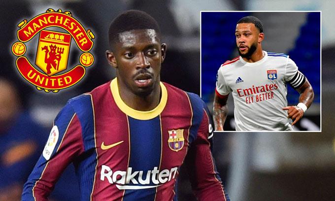 Dembele có thể bị Barca bán cho M.U để lấy tiền mua Depay