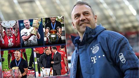 Cứ 8 trận HLV Flick lại giành 1 danh hiệu cùng Bayern