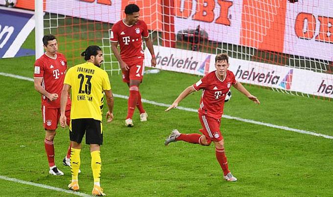 Kimmich ghi bàn quyết định giúp Bayern hạ Dortmund