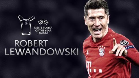 Đánh bại De Bruyne và Neuer, Lewandowski giành giải cầu thủ xuất sắc nhất năm của UEFA