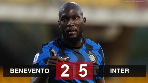 Benevento 2-5 Inter Milan: Lukaku đưa Inter vượt mặt Juventus và AC Milan
