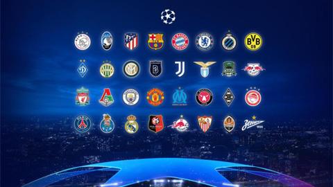 Bốc thăm chia bảng Champions League 2020/21: Man United đụng PSG,  RB Leipzig và Istanbul Basaksehir
