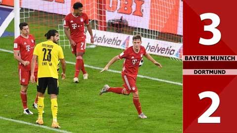 Bayern Munich 3-2 Borussia Dortmund (Siêu cúp Đức 2020)