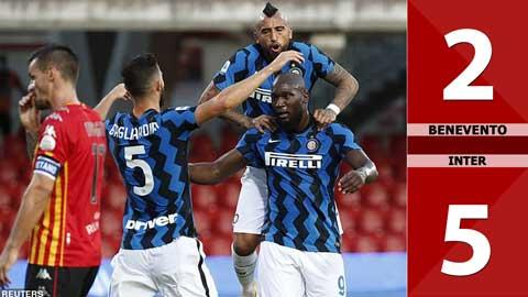 Benevento 2-5 Inter (đá bù vòng 1 Serie A 2020/21)
