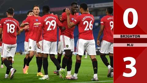 Brighton 0-3 Man United (Vòng 4 Cúp Liên đoàn Anh)
