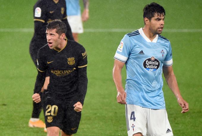 Sergi Roberto ấn định chiến thắng tưng bừng cho Barca