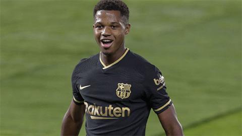 Thần đồng Fati đe dọa kỷ lục ghi bàn của Quintana ở La Liga