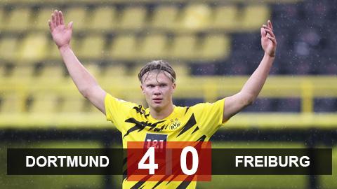 Dortmund 4-0 Freiburg: Haaland và Reyna bừng sáng, Dortmund ngắt mạch thua