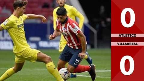 Atletico Madrid 0-0 Villarreal (Vòng 5 La Liga 2020/21)