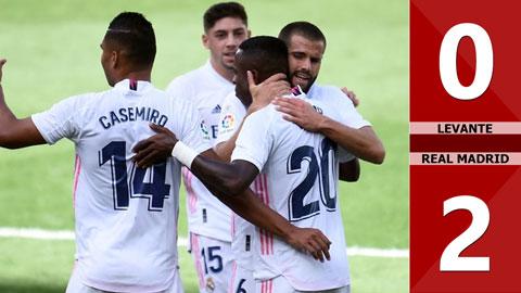 Levante 0-2 Real Madrid (vòng 5 La Liga 2020/21)
