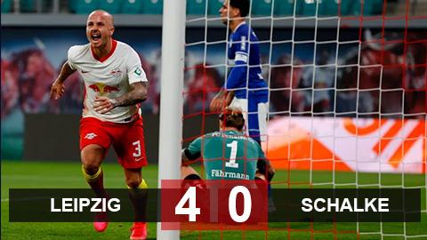 Leipzig 4-0 Schalke: Hủy diệt Hoàng gia xanh, Leipzig đứng đầu BXH Bundesliga