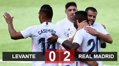 Kết quả Levante 0-2 Real Madrid: Vinicius và Benzema lập công, Real lên đỉnh