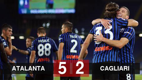 Atalanta 5-2 Cagliari: Atalanta lên ngôi đầu bảng