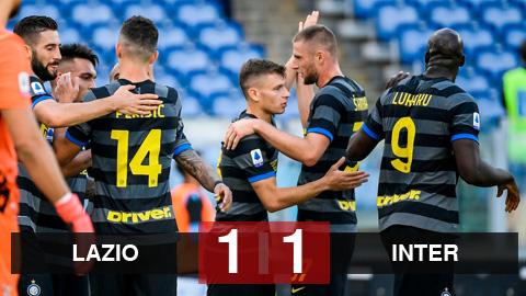 Lazio 1-1 Inter: Lukaku và Sanchez tịt ngòi, Inter đứt mạch thắng ở Serie A