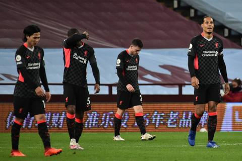 Liverpool để thua bạc nhược trước Aston Villa