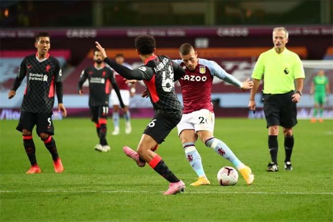 3/7 bàn thắng của Aston Villa đến sau những cú dứt điểm có phần may mắn