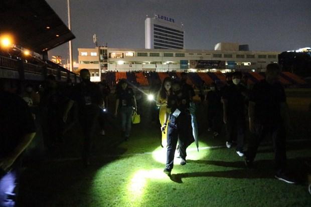 Trận đấu giữa Port FC và Muangthong United không thể thi đấu vì sự cố mất điện - Ảnh: Siam Sports
