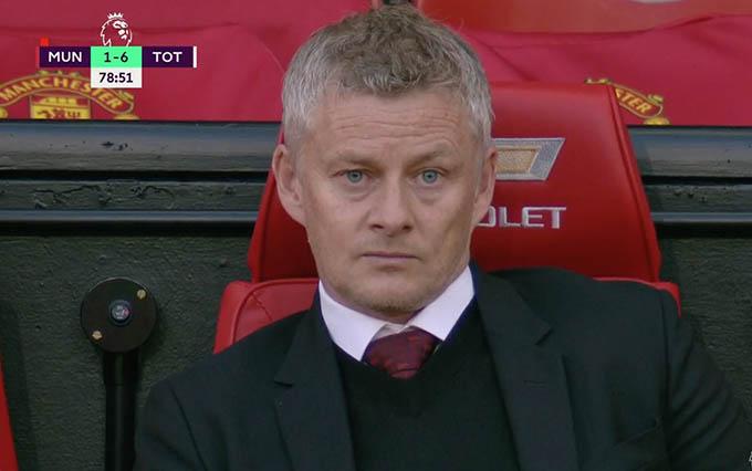 Gương mắt buồn thảm của Solsa khi Man United bại trận trước Tottenham