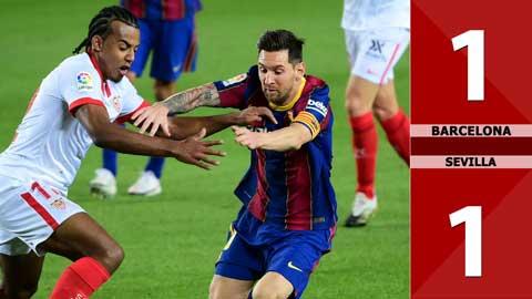 Barcelona 1-1 Sevilla (Vòng 5 La Liga 2020/21)