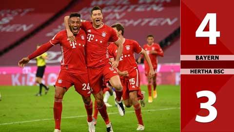 Bayern München 4 - 3 Hertha BSC (Vòng 3 Bundesliga 2020/21)