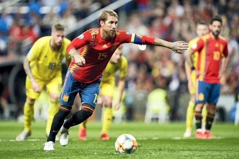 Là trung vệ, nhưng Ramos đã ghi được 23 bàn thắng cho ĐT Tây Ban Nha