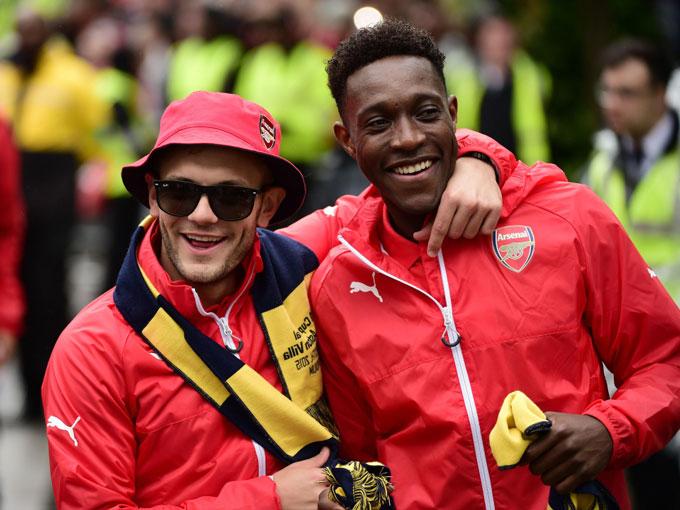 Wilshere và Welbeck từng là những người đồng đội tại Arsenal