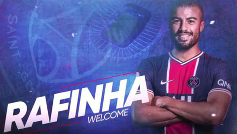 Rafinha vừa ra mắt và ký hợp đồng 3 năm với PSG