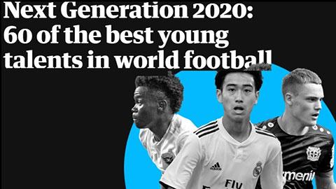 Next Generation 2020: Vắng bóng măng non Ngoại hạng Anh