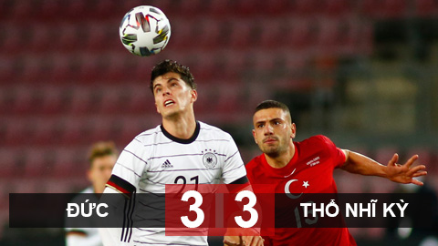 Đức 3-3 Thổ Nhĩ Kỳ: Havertz lập cú đúp kiến tạo, Đức vẫn bị cầm hòa ở phút 94