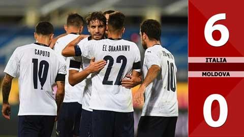 Italia 6-0 Moldova (Giao hữu Quốc tế 2020)