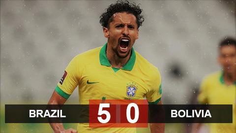"""Brazil 5-0 Bolivia: Neymar """"tịt ngòi"""", Brazil vẫn vùi dập Bolivia không thương tiếc"""