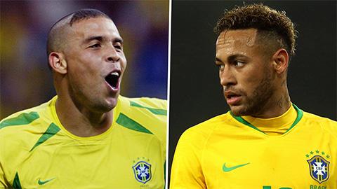 """Quá vô duyên trước Bolivia, Neymar chưa thể bắt kịp Ronaldo """"béo"""""""
