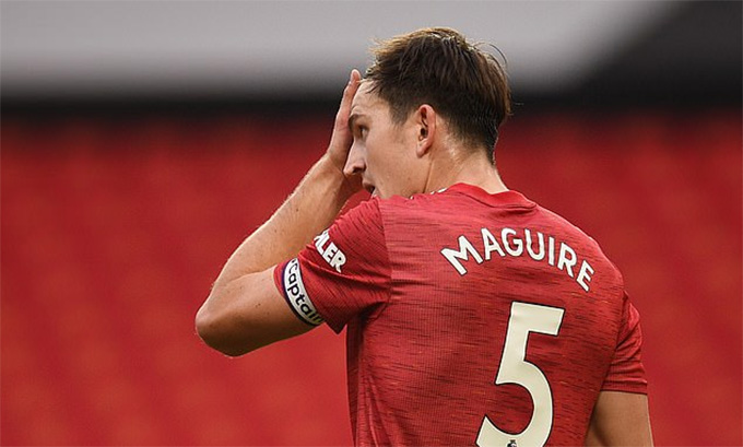 Maguire rất hay mắc sai lầm dù có giá 80 triệu bảng