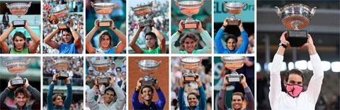 Vô địch Roland Garros 2020, Nadal cân bằng kỷ lục 20 Grand Slam của Federer