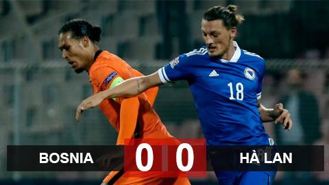 Kết quả Bosnia 0-0 Hà Lan: Bị Bosnia cầm chân, Hà Lan lỡ cơ hội lấy ngôi đầu của Italia