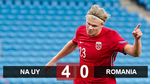 Na Uy 4-0 Romania: Haaland lần đầu lập hat-trick ở ĐT, Na Uy hủy diệt Romania