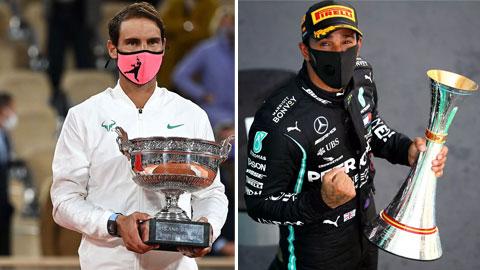Nadal và Lewis Hamilton ghi danh sử sách trong cùng một ngày