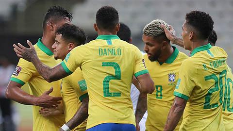 07h00, trực tiếp Peru vs Brazil: Telles, Fabinho, Ederson và Rodrygo dự bị