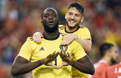Lukaku (trước) và đồng đội đã sẵn sàng đưa Bỉ trở lại với mạch thắng