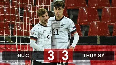Kết quả Đức 3-3 Thụy Sỹ: Werner và Havertz tỏa sáng