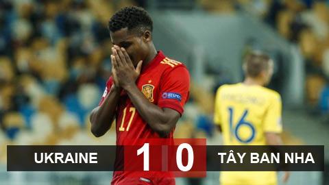 Kết quả Ukraine 1-0 Tây Ban Nha: Thất bại bạc nhược