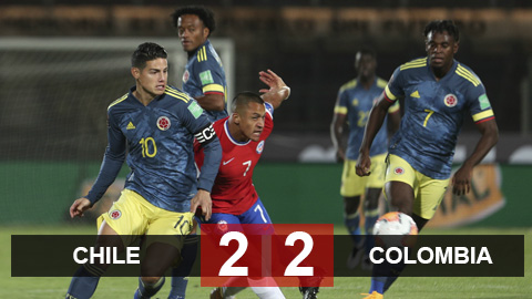Kết quả Chile 2-2 Colombia: Falcao tỏa sáng giúp Combia thoát thua