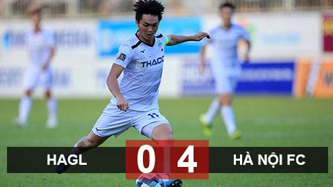 Kết quả HAGL 0-4 Hà Nội FC: Thua sấp mặt và tạm biệt giấc mơ huy chương